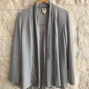 Anthropologie One September Gray Lace Cardigan S